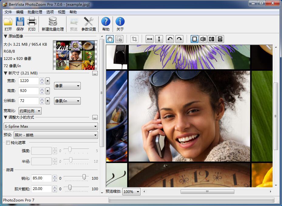 PhotoZoom Pro 7(图片无损放大工具) 汉化版附带注册